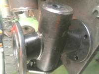 Кран битумный пробковый проходной ДУ 80  с паровой рубашкой для обогрева
